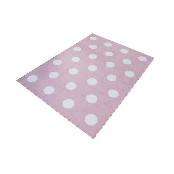 Dětský koberec PASTEL puntíky - růžový - 120x170 cm