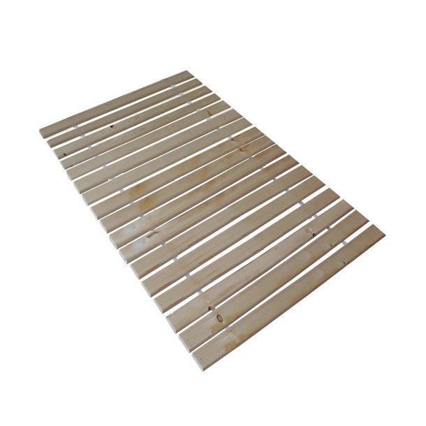 SKLADEM: Postel z masivu borovice - jednolůžko 200x100 cm - MAX 128 - bezbarvý lak