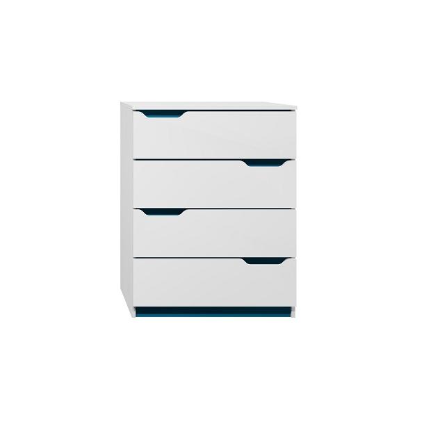 SKLADEM: Komoda - MODERN TYP B - tmavě modrá/bílá