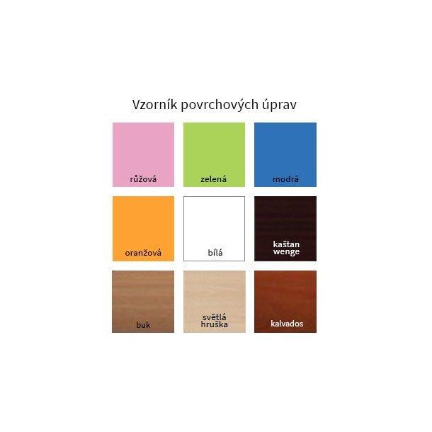 SKLADEM: Dětský úložný regál MAŠINKA - TYP 16 - NÍZKÝ - bílo/zelený