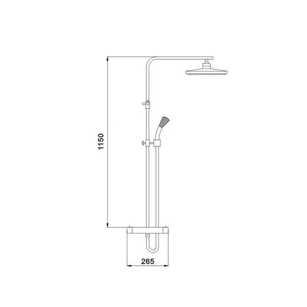 Sprchová souprava MEXEN - TIM s termostatickou baterií - chromová