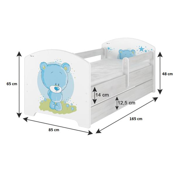 SKLADEM: Dětská postel s výřezem MÉĎA - přírodní 160x80 cm