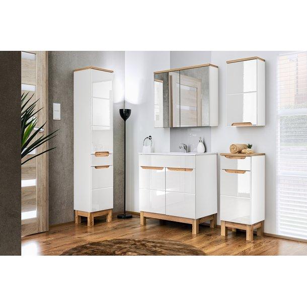 Koupelnová stojící skříňka pod umyvadlo BALI bílá 80 cm
