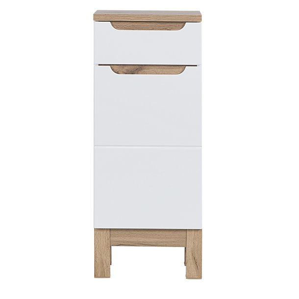 Koupelnová stojící skříňka BALI bílá - nízká spodní