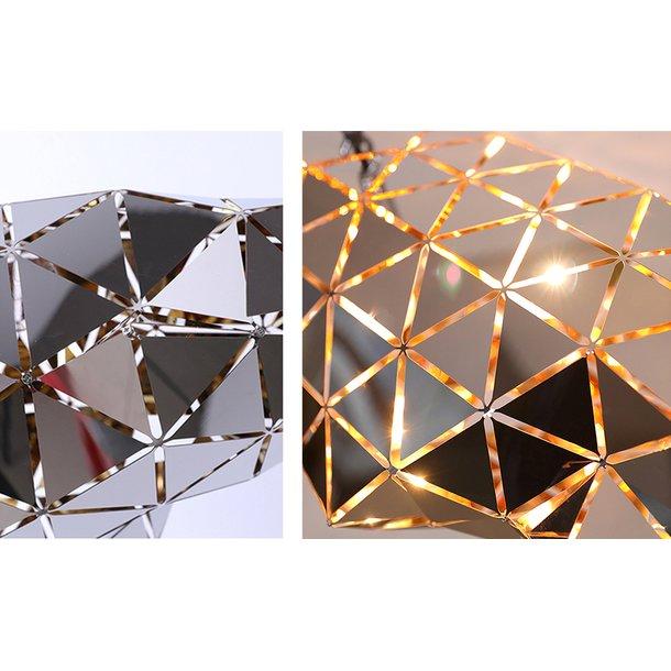 Stropní svítidlo METEOR typ A - chromové/zlaté - 29 cm