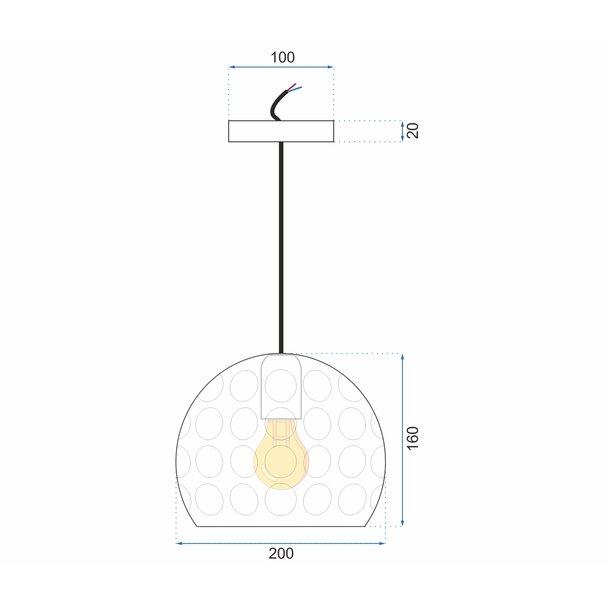 Stropní svítidlo SPILL typ B - kov - zlaté
