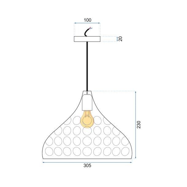 Stropní svítidlo SPILL typ D - kov - zlaté
