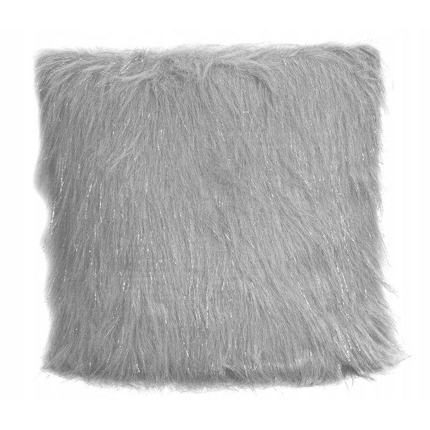 Polštář LUX 45x45 cm s dlouhým vlasem - šedý