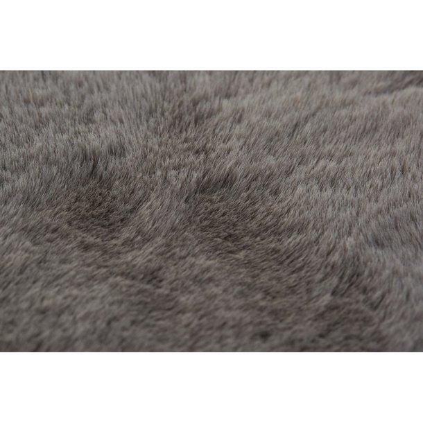 Kusový koberec RABBIT DELUXE - světle šedý - imitace králičí kožešiny