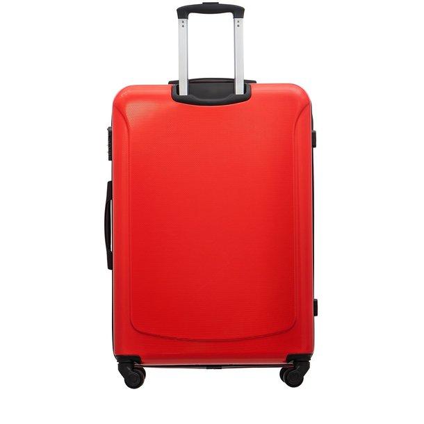 Moderní cestovní kufry CARA - červené