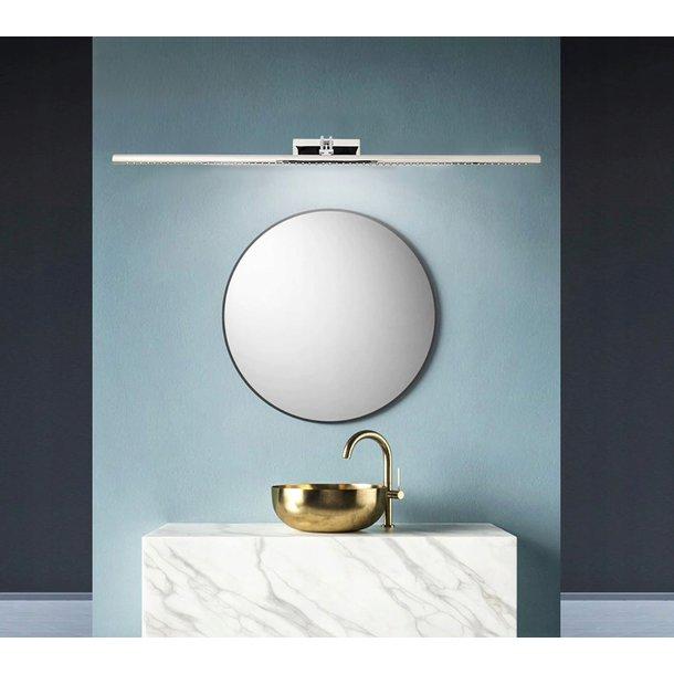 Nástěnné LED svítidlo nad zrcadlo HASH - 106 cm - 15W - chromové