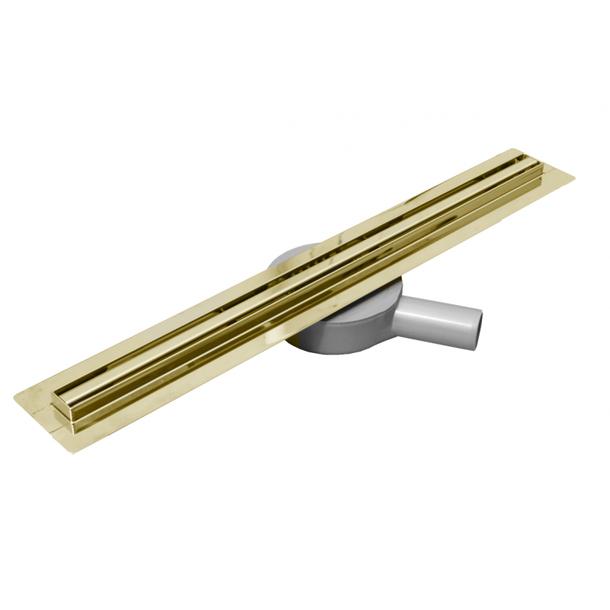Sprchový žlab MAXMAX Mexen FLAT 360 SLIM - zlatý