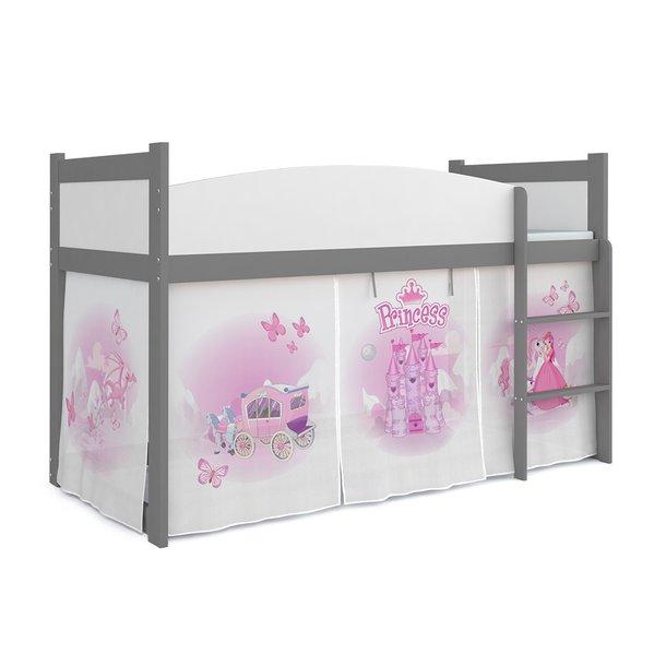Vyvýšená dětská postel TWISTER 184x80 cm - Princezna