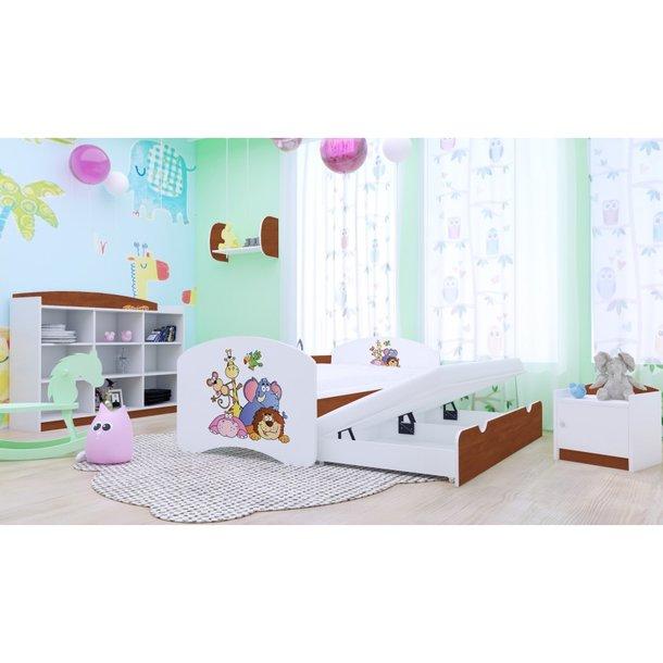 Dětská postel pro DVA (s výsuvným lůžkem) 160x80 cm - SAFARI