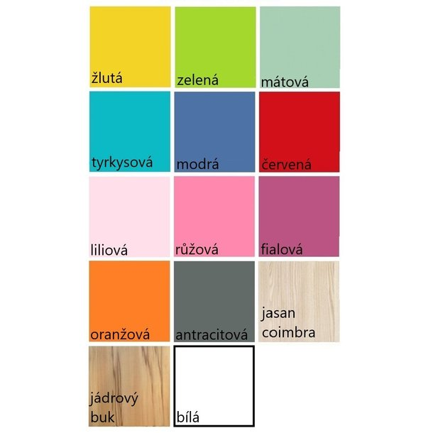 SKLADEM: Psací stůl PONÍK S RŮŽOVOU HŘÍVOU - TYP A - růžovo/bílý