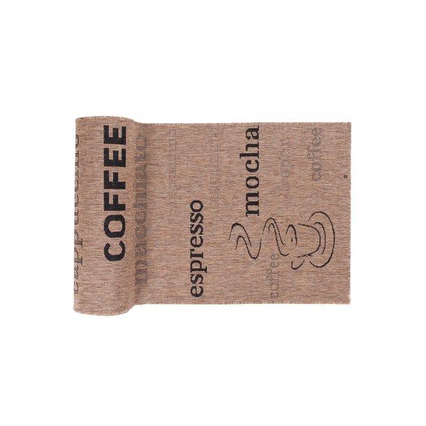 Sisalový PP běhoun COFFEE - hnědý/černý