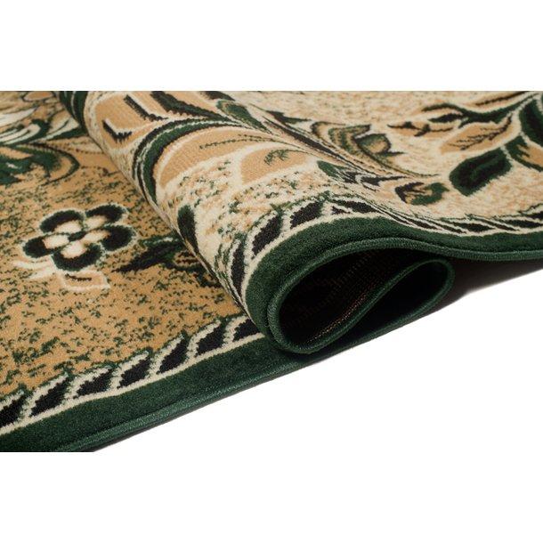 Kusový koberec ATLAS flora - tmavě béžový/zelený