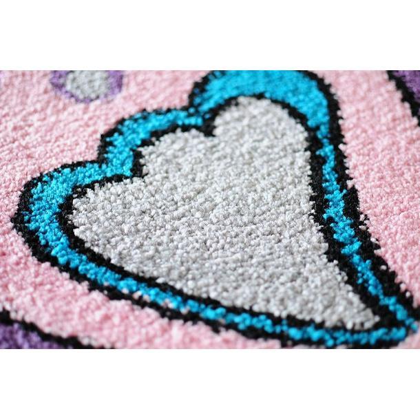 Dětský koberec MOTÝLI - šedý