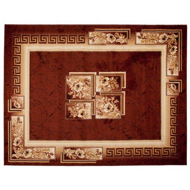 Kusový koberec ATLAS quatro - hnědý/béžový