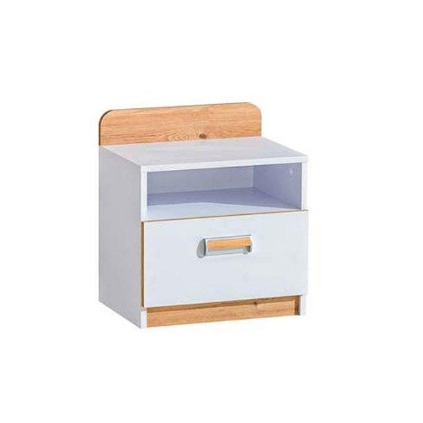 Noční stolek LORENTO - WHITE