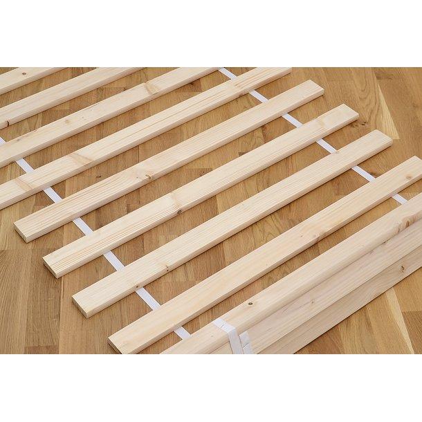 Dětská patrová postel z masivu borovice CYRIL s přistýlkou a šuplíky - 200x90 cm - BÍLÁ