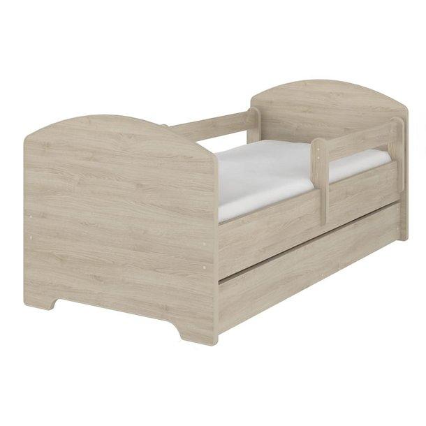 SKLADEM: Dětská postel OSKAR - dub palermo 140x70 cm + matrace