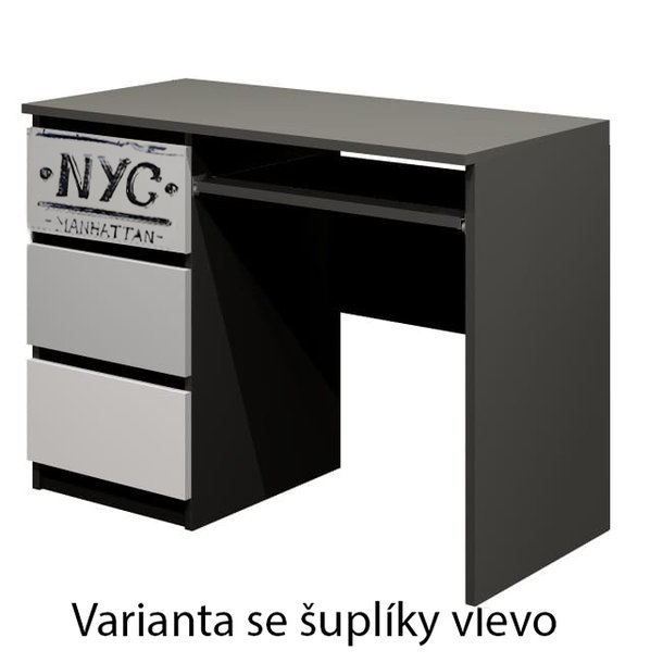 SKLADEM: Psací stůl - NEW YORK TYP A - dekor buk