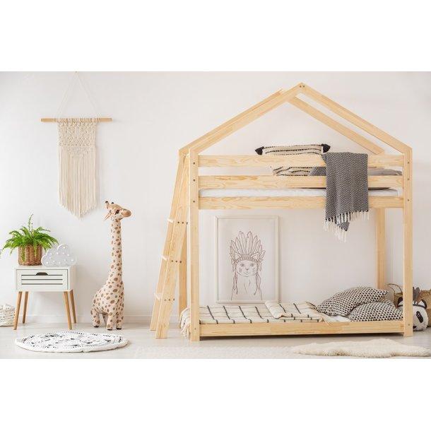 SKLADEM: Dětská postel z masivu PATROVÝ DOMEČEK - TYP B 190x90 cm