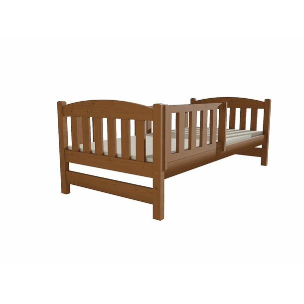 SKLADEM: Dětská postel z MASIVU 200x80cm bez šuplíku - DP002 - růžová