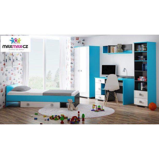 Noční stolek - BLUE - vysoký lesk