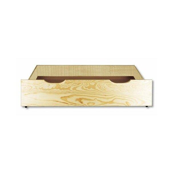 Dětská patrová postel s rozšířeným spodním lůžkem z MASIVU 200x90cm SE ŠUPLÍKY - PPS002