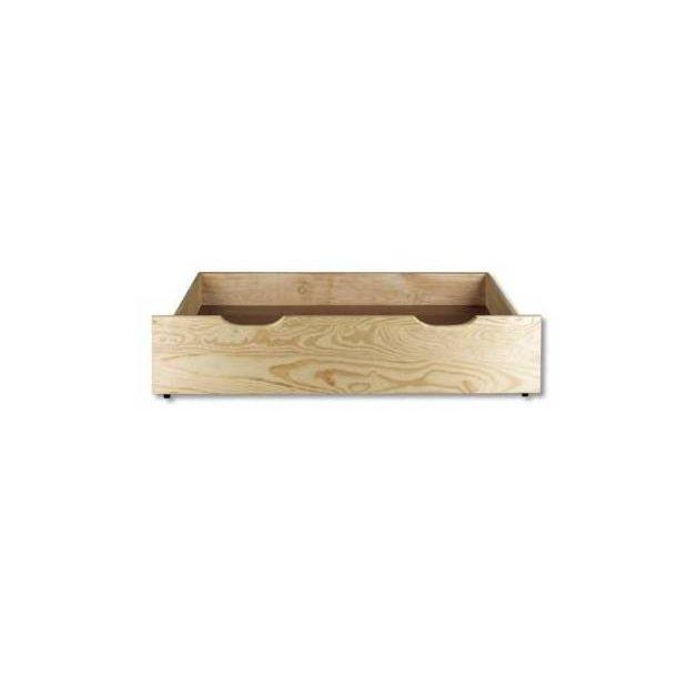 SKLADEM: Postel z masivu borovice - jednolůžko 200x90 cm - MAX 125 - moření olše