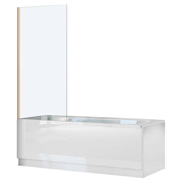 Vanová zástěna ELEGANT 80x140 cm - pevná - zlatá