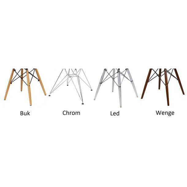 SKLADEM: Kuchyňská designová židle MODELINO - holubí šedá - WENGE DŘEVO
