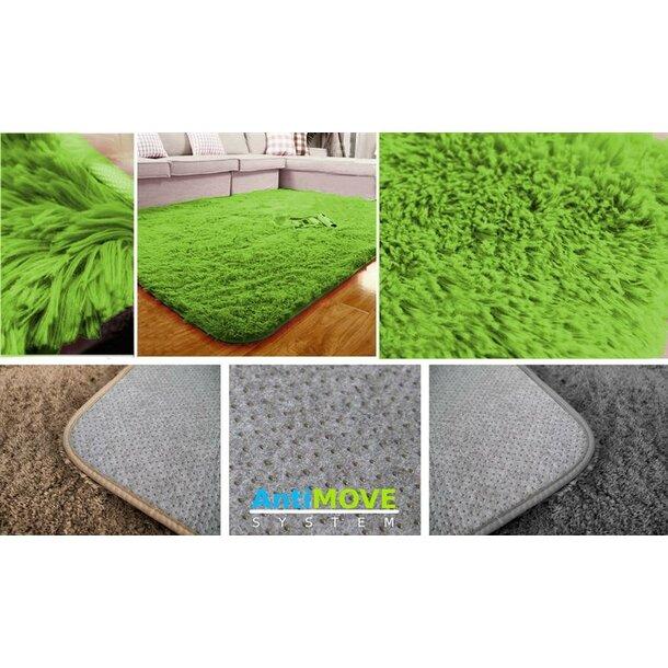 Dětský plyšový koberec TMAVĚ ZELENÝ