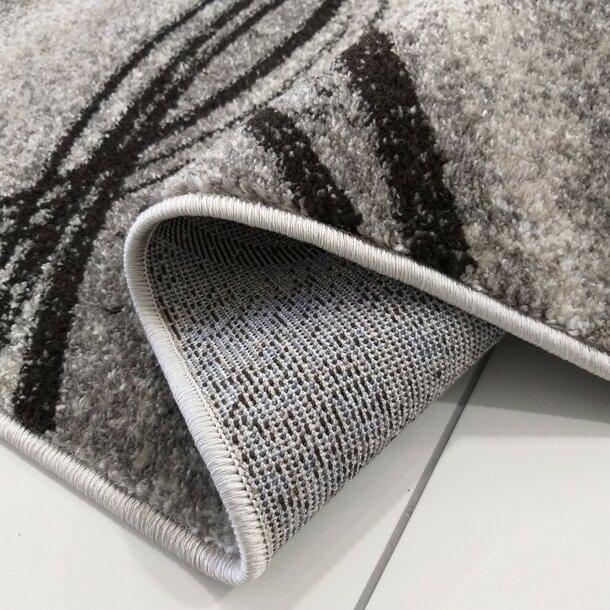 Kusový koberec PANNE vlny - odstíny šedé