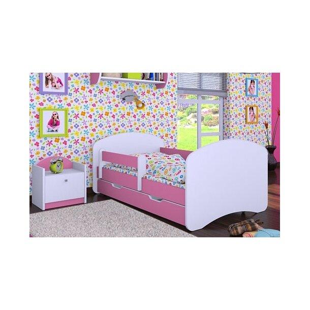 SKLADEM: Dětská postel se šuplíkem 160x80cm HAPPY bez motivu - růžová
