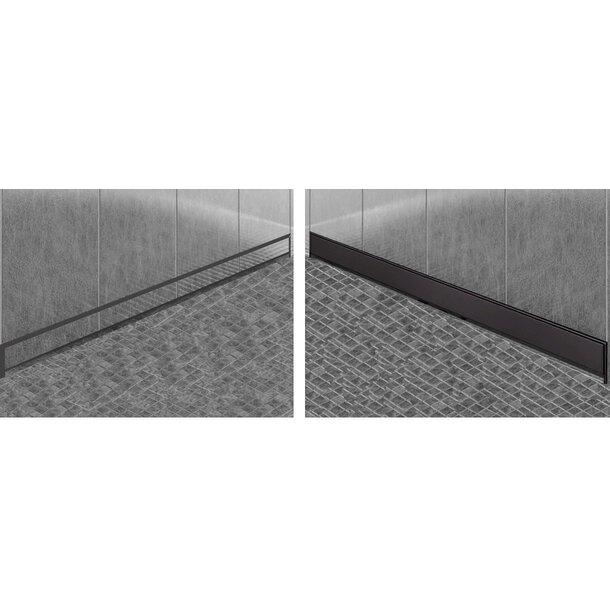 Sprchový žlab do stěny MEXEN FLAT WALL 2v1 - černý matný