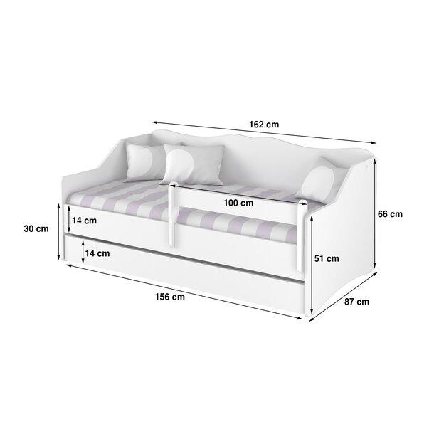 SKLADEM: Dětská postel s přistýlkou LULLU 160x80cm - MINNIE a zvířátka + bariéra
