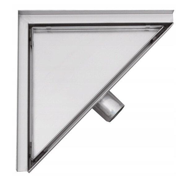 Trojúhelníkový rohový sprchový žlab MEXEN FLAT 2v1 - 20 cm