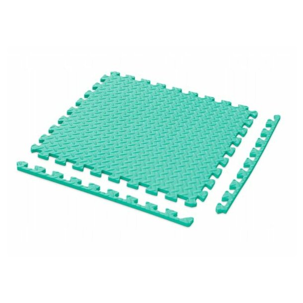 Dětská podložka na hraní PUZZLE MAX - 122x122 cm - sada 4 ks - mátová