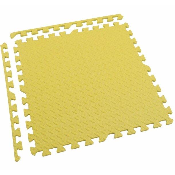 Dětská podložka na hraní PUZZLE MAX - 122x122 cm - sada 4 ks - žlutá
