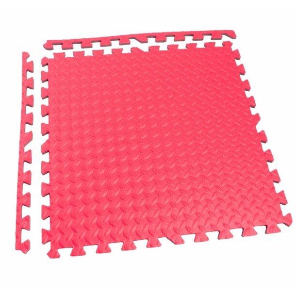 Dětská podložka na hraní PUZZLE MAX - 122x122 cm - sada 4 ks - červená