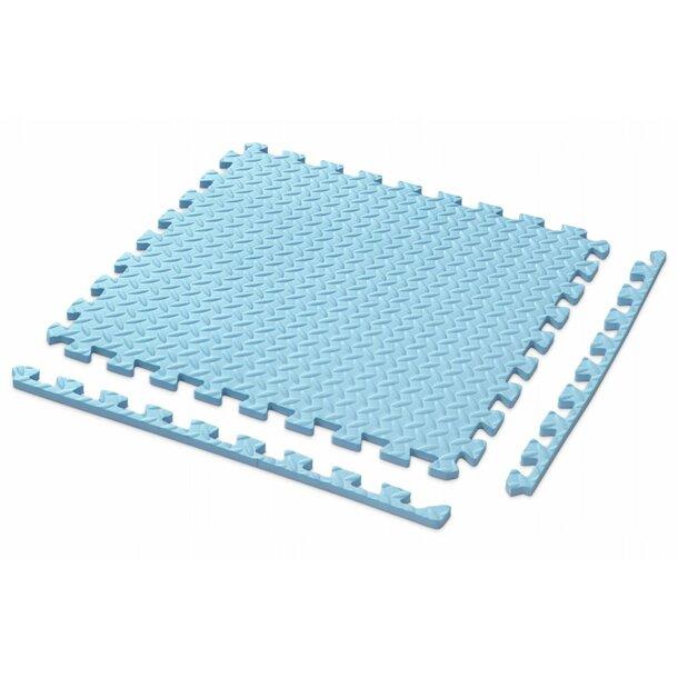 Dětská podložka na hraní PUZZLE MAX - 122x122 cm - sada 4 ks - světle modrá