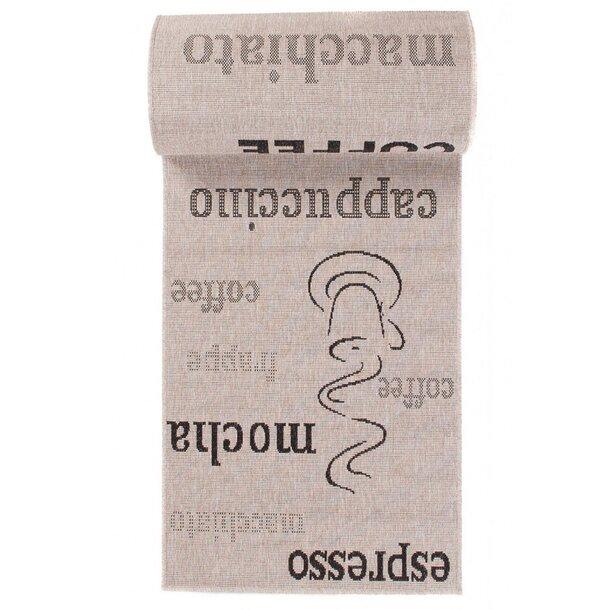 SKLADEM: Sisalový PP běhoun COFFEE - světle hnědý/černý - 90x100 cm