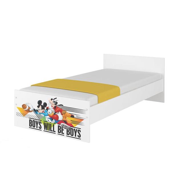 SKLADEM: Dětská postel MAX bez šuplíku Disney - MICKEY A KAMARÁDI 160x80 cm - 2x krátká zábrana