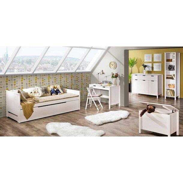 SKLADEM: Dětská postel s výsuvnou přistýlkou z MASIVU 200x90cm SE ŠUPLÍKEM - TOM