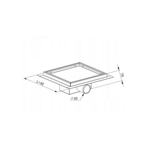 Odtokový sprchový žlab MEXEN FLAT 2v1 - hranatý - 15x15 cm