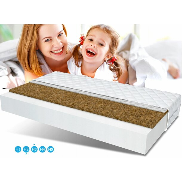 Dětská matrace JUNIOR MAX RELAX 160x80x10 cm - pěna/kokos