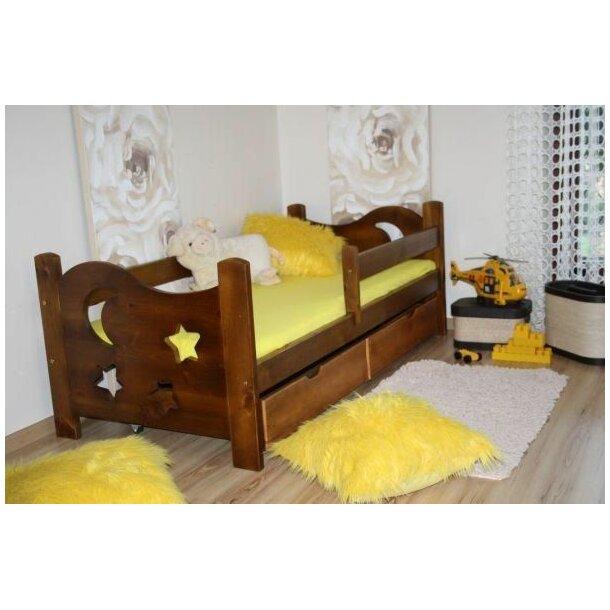 SKLADEM: Dětská postel z MASIVU 160x80cm bez šuplíku - DP021 - bílá